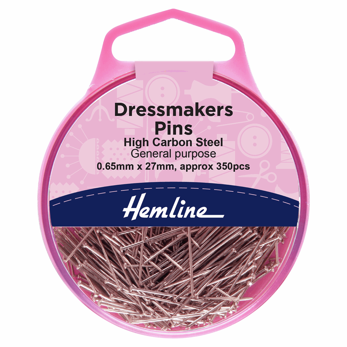 Dressmakers Pins - 0.65mm x 27mm (350 Pieces)