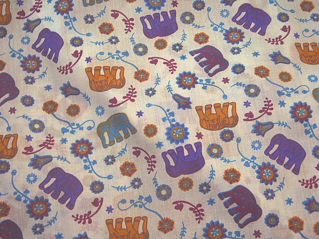 Elephant Nursery - Poly/Cotton Print