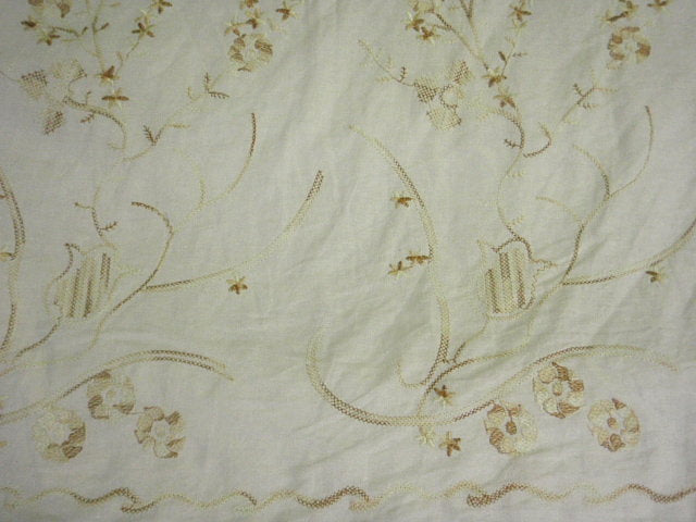Tulip Floral - Embroidered Linen