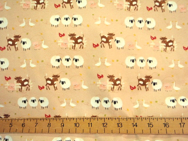 Farmyard Fun - Brushed Cotton Fabric