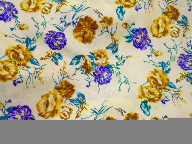 Floral Design 48 - Pure Cotton