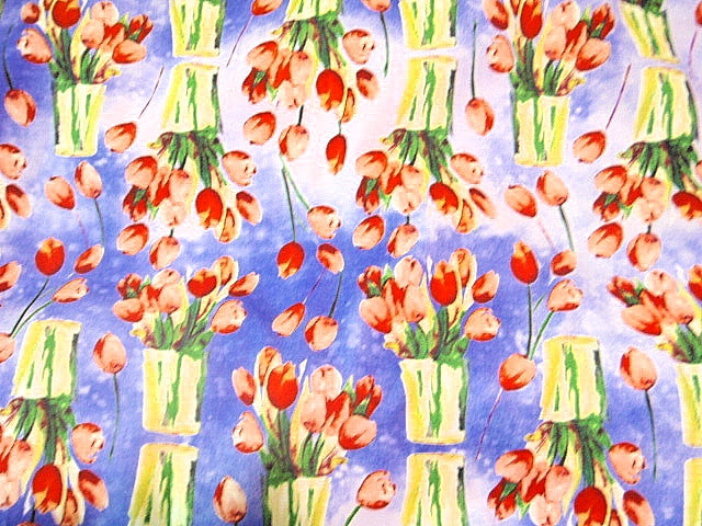 Tulips Print - Cotton Poplin Patchwork