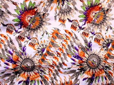 Tribal Flower Print - Stretch Cotton