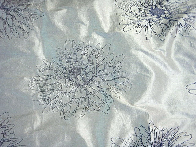 Floral Bliss - Embroidered Silk Dupion