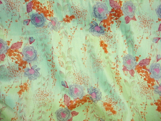 Printed Cotton Satin  - Floral Calypso