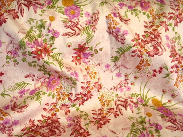 Printed Cotton Satin  - Floral Whisper