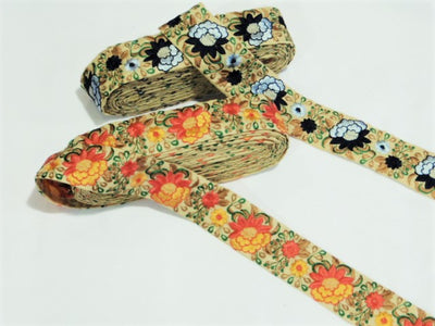 Floral Threadwork Trim (50mm)