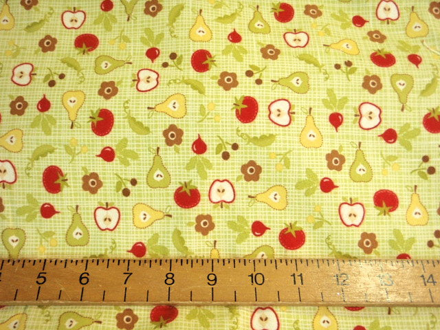 Fruit Pattern Brushed Cotton Fabric