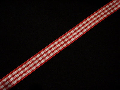 15Mm Wide Gingham Ribbon
