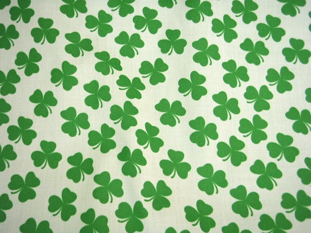 St Patrick's Day Clover - Poly/Cotton Print
