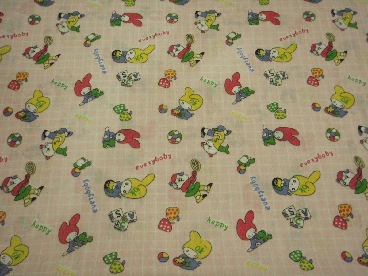 Everyone Happy Novelty  - Poly/Cotton Print