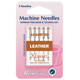 Hemline Sewing Machine Needles - Leather