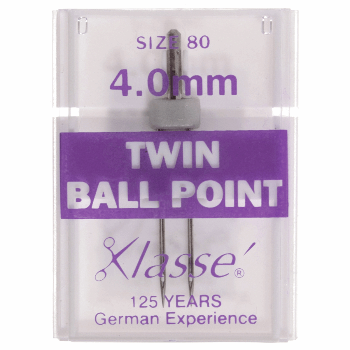 Klasse Twin Ballpoint Sewing Machine Needles