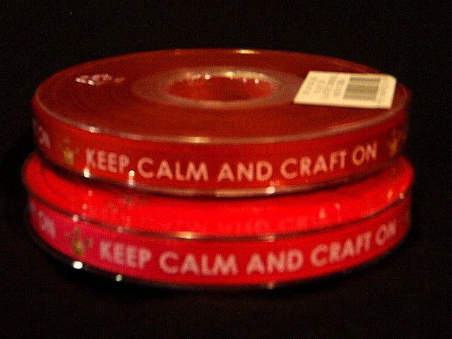 Keep Calm Craft - 10mm Wide Ribbon