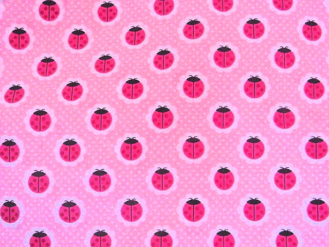 Pink Ladybird - Poly/Cotton Print