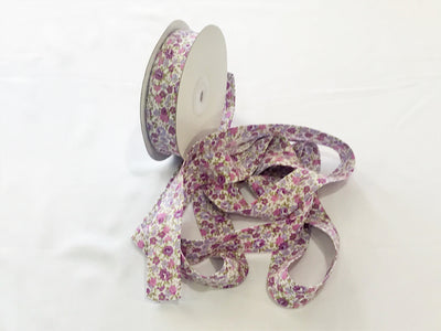 Floral Print Bias Binding Cotton Tape - FULL REEL