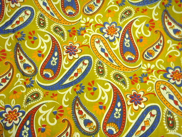 Lime Royal Paisley - Poly/Cotton Print