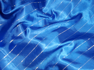 Metallic Pin Striped Satin
