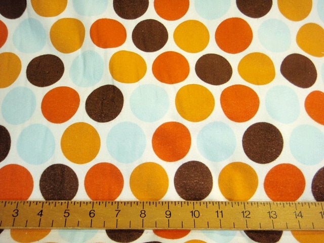 Multi Polka Dots - Brushed Cotton Fabric