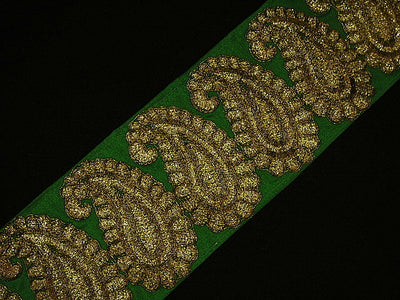 Paisley Design - Metallic Woven Trim