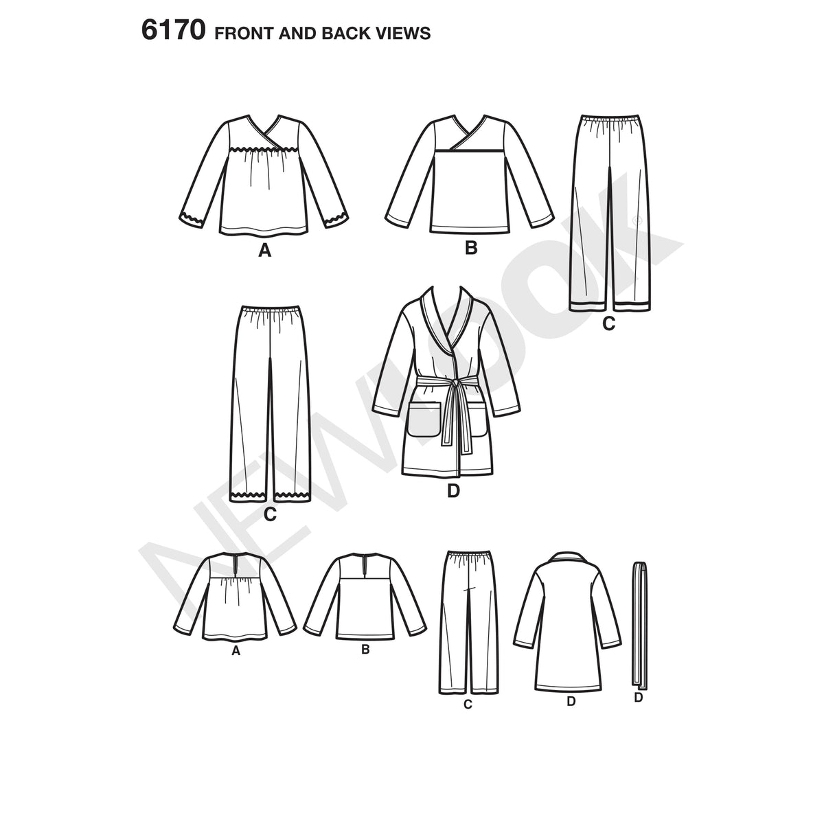 6170 Toddlers' and Child's Pajamas