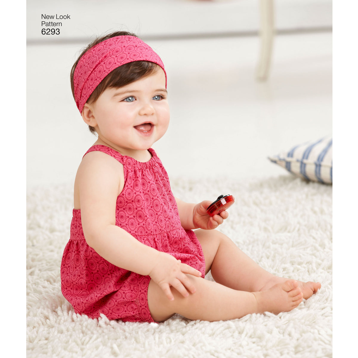 6293 Babies' Romper, Dress, Panties and Headband
