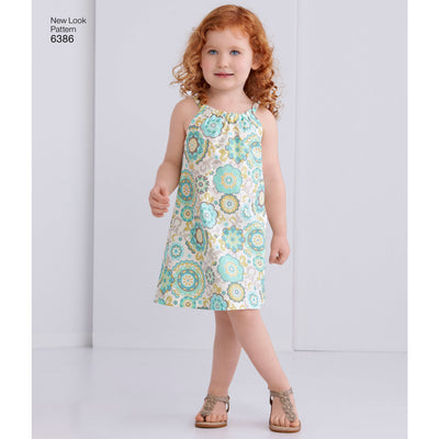 6386 Toddlers' Easy Pillowcase Dresses