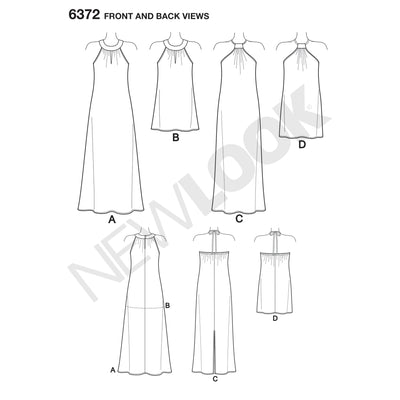 6372 Misses' Dresses Each in Two Lengths