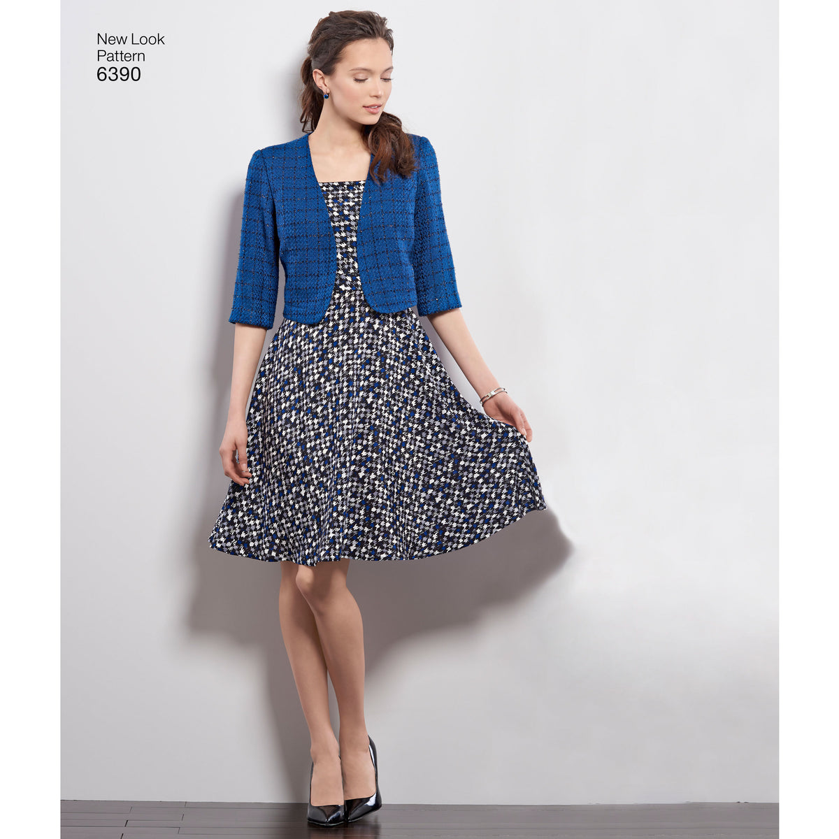 6390 Misses' Dresses with Full Skirt and Bolero