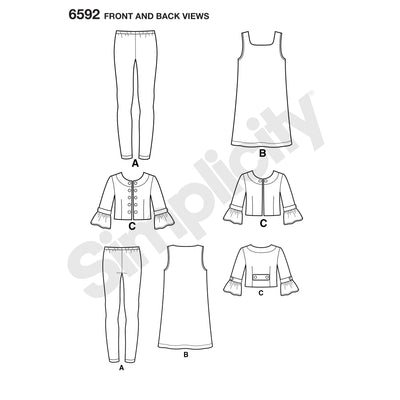 6592 New Look Pattern 6592 Girl's Sportswear