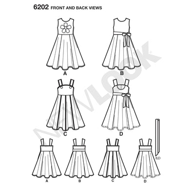 6202 Child's Dress and Sash