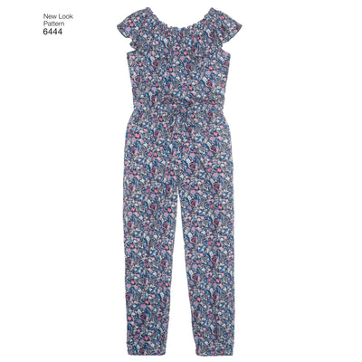6444 Girl's Dress and Jumpsuit in Two Lengths