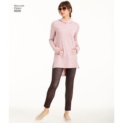 6529 New Look Pattern 6529 Women's Knit Tunics and Leggings