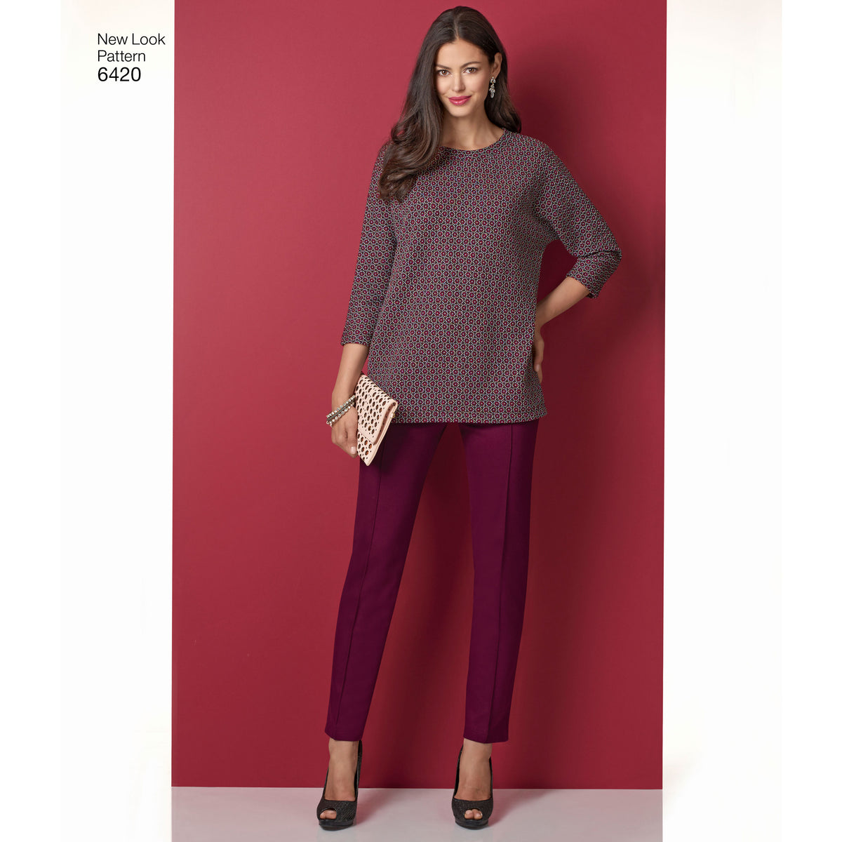 6420 Misses' Knit Skirt, Pants and Top