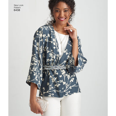 6438 Misses' Easy Pants, Kimono, and Top