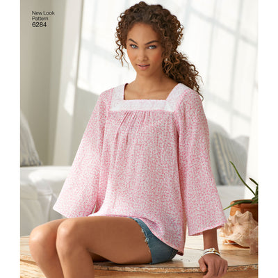 6284 Misses' Pullover Top in Two Lengths