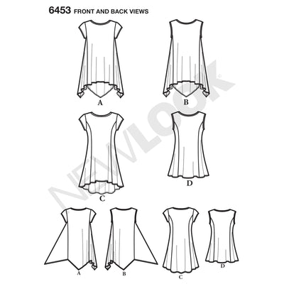 6453 Misses' Easy Knit Tops