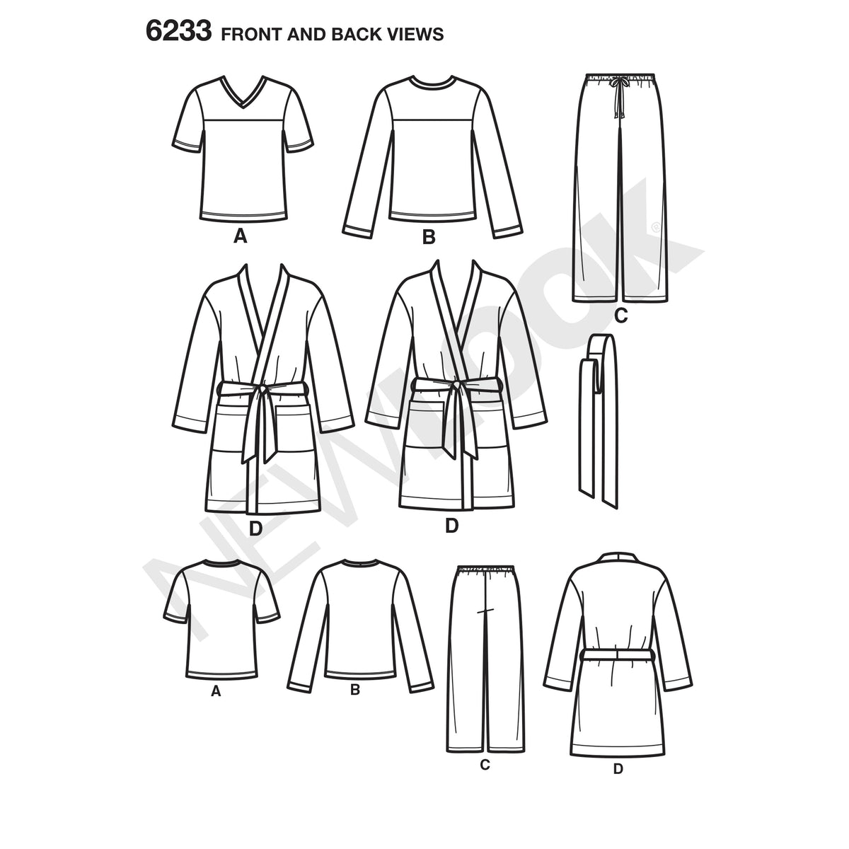 6233 Unisex Pants, Robe and Knit Tops