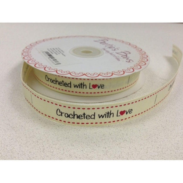 Crocheted With Love Label Ribbon