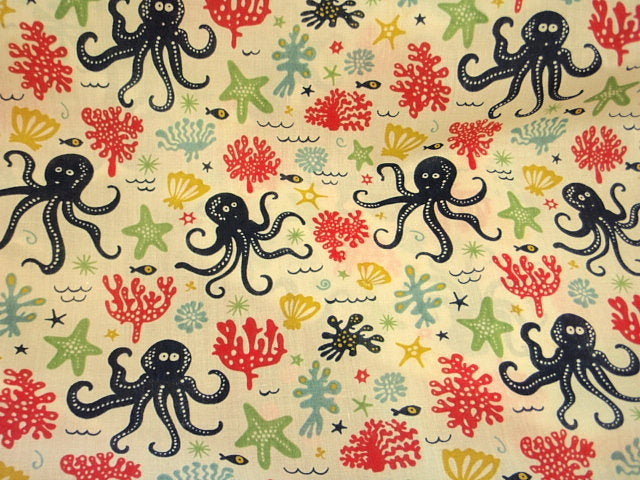 Octopus - Poly/Cotton Print