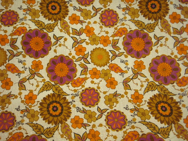 Orange Cerise Sunflower - Poly/Cotton Print