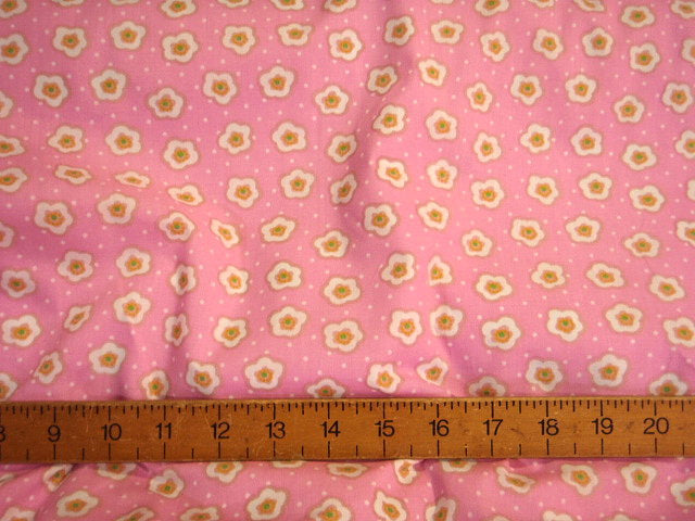 Pink Daisy Dot - Cotton Poplin Fabric