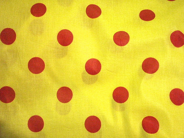Contrast Polka Dots Design 6 - Poly/ Cotton Print