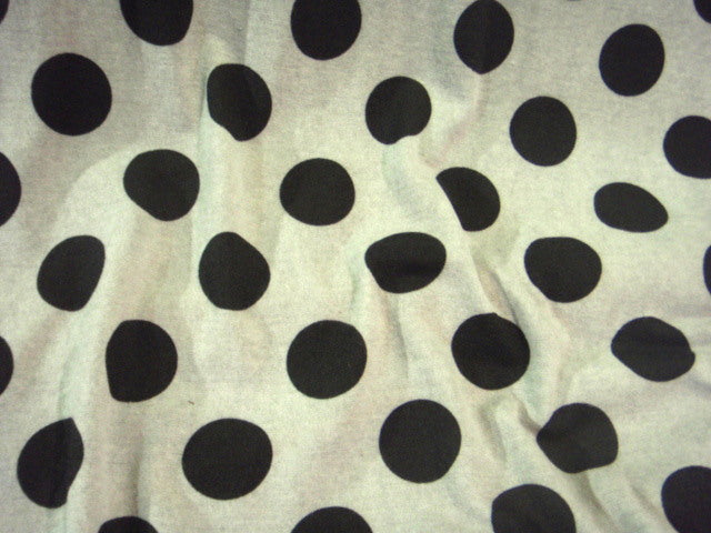 Grey/Black Polka Dots - Knitted Jersey