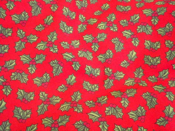 Christmas Classic Holly - Poly/Cotton Print