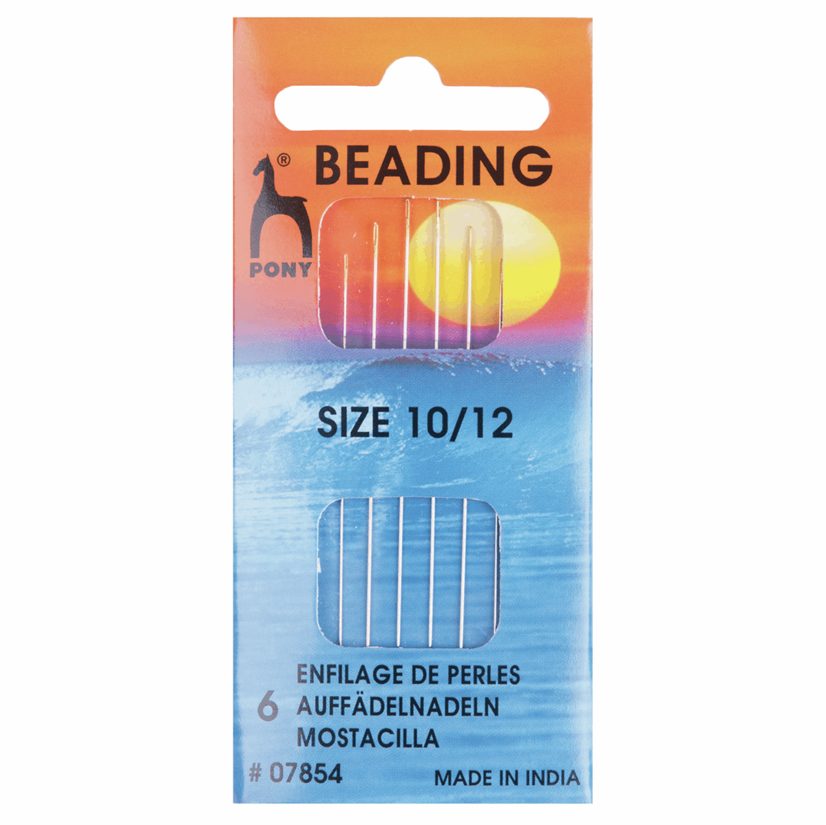 Hand Sewing Needles: Beading - Gold Eye: Size 10/12