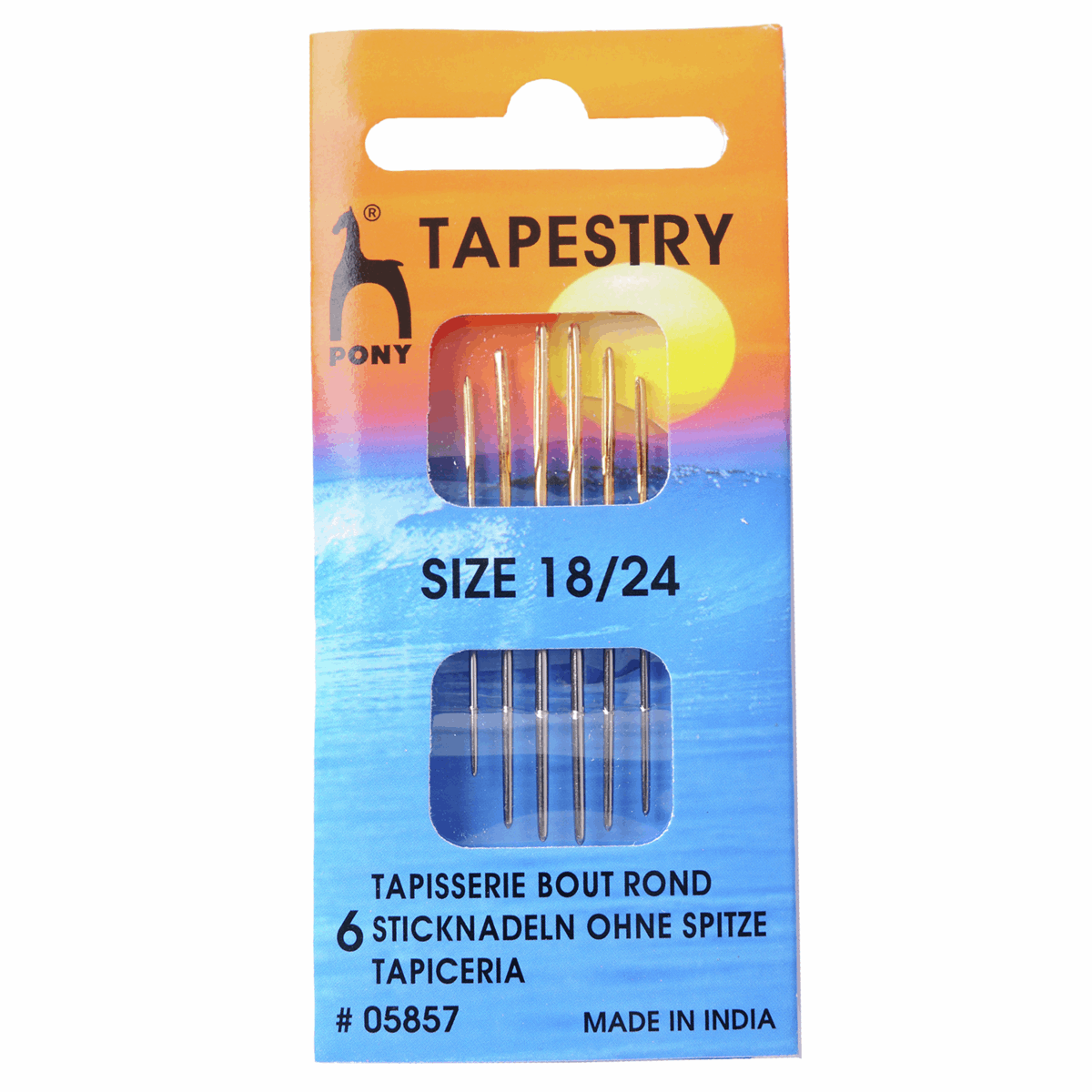 Hand Sewing Needles: Gold Eye - Tapestry Size 18-24
