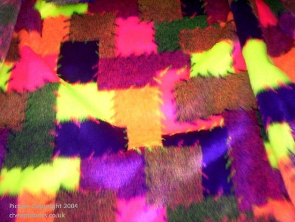 Fluorescent Patch - Print Fur