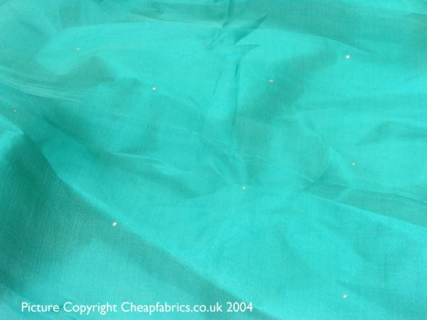 Pure Silk Organza with Crystals
