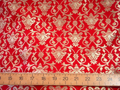 Red Gold Damask - Indian Brocade